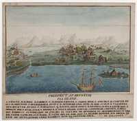 Tablou canvas reykevig, 1785, birds eye view