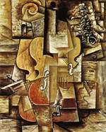 tablou picasso- violin and grapes [1912]