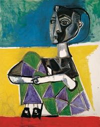 Tablou canvas pablo picasso   jacqueline sentada, 1954
