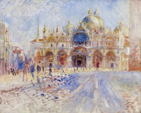 tablou renoir - the piazza san marco, venice, 1881