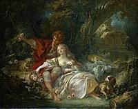 tablou francois boucher - pair of lovers