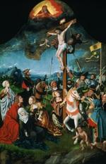tablou jan mostaert - the crucifixion