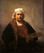 tablou rembrandt - autoportret (1665)