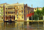 Tablou canvas a pair 'palazzo ca d'oro, venice' and 'a venetian