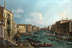 Tablou canaletto - a regatta on the grand canal (2) (1740)