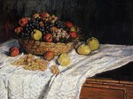 tablou claude monet   fruit basket with apples and grapes, 1879