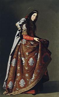 tablou francisco de zurbaran - holy casilda (1630)