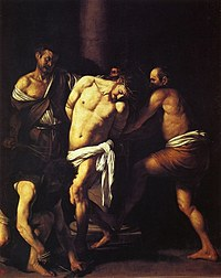 tablou caravaggio - flagellation of christ