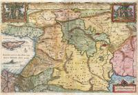 tablou Harta antica holy land, 1657