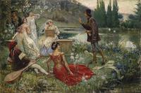 tablou salvatore postiglione - motif from decameron