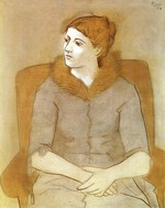 tablou picasso- portrait of olga [1923]