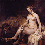 tablou rembrandt - bathsheba at her bath (1654)