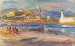 Tablou canvas renoir - fort carre et phare d'antibes, 1916