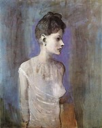 tablou picasso- woman in a chemise [1905]
