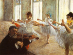 tablou 1879  edgar degas - ecole de dans, repetition de danse