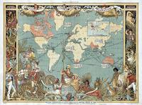 Tablou canvas harta antica (218)
