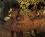 tablou 1884  edgar degas - les danseuses roses, avant le ballet