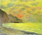 tablou claude monet - sunset, foggy weather, pourville, 1882