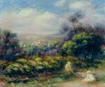 Tablou canvas Renoir - cagnes landscape 01