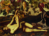 Tablou canvas caravaggio - the youthful bacchus, 1610