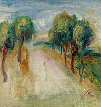 tablou pierre auguste renoir - the shady path