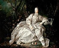 tablou francois boucher - portret marquise de pompadour, 1721