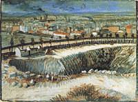 tablou van gogh - factories, outskirts of paris, near montmartre, 1887