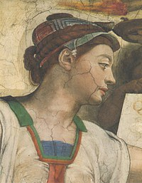 tablou michelangelo, sistine chapel (detail)