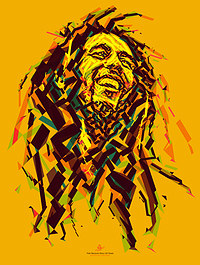 tablou bob marley, abstract (5)