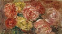 tablou pierre auguste renoir - stll life with roses, 1918