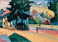 tablou kandinsky vasily - view of murnau
