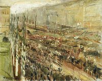 tablou max liebermann - entrance of the troops into pariser platz, 1918
