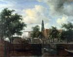 tablou hobbema, meyndert - the haarlem lock, amsterdam
