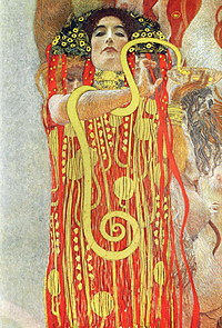 tablou Gustav Klimt - medicine (1900)