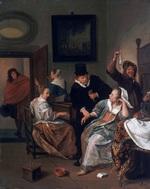 tablou jan steen - the doctor's visit