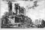 tablou piranesi - roma antica, alb negru 06