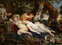 tablou rubens- cimon and iphigenia (in collaboration with frans snyders) (1617)