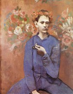 tablou picasso- boy with a pipe [1905]