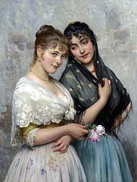 tablou eugen von blaas - venetian beauties