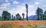 Tablou canvas claude monet   poppy field at giverny [1890]
