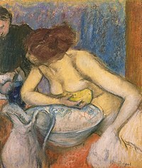 tablou edgar degas - woman in toilet, 1897