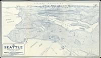 tablou seattle birdseye view, 1925