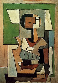 tablou picasso - composition avec personnage, 1920