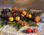 tablou claude monet   still life sun