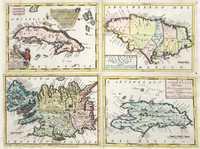 tablou Cuba, jamaica, iceland, dominicana, 1692