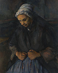 tablou paul cézanne - an old woman with a rosary