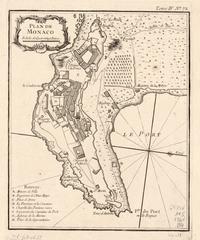 tablou plan de monaco, 1764