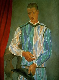 tablou picasso - l'arlequin de barcelone, 1917