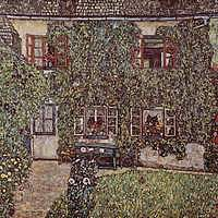 Tablou canvas Gustav Klimt - house (1912)