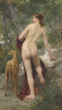 tablou emile levy - diana in the woods